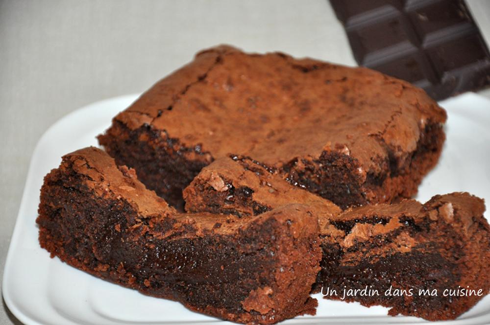 Gâteau au chocolat un jardin dans ma cuisine