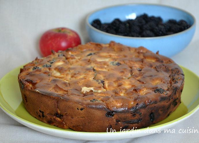 gâteau aux mûres pommes et mascarpone