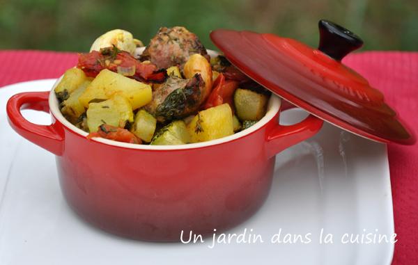légumes et farce rôtis au four un jardin dans ma cuisine