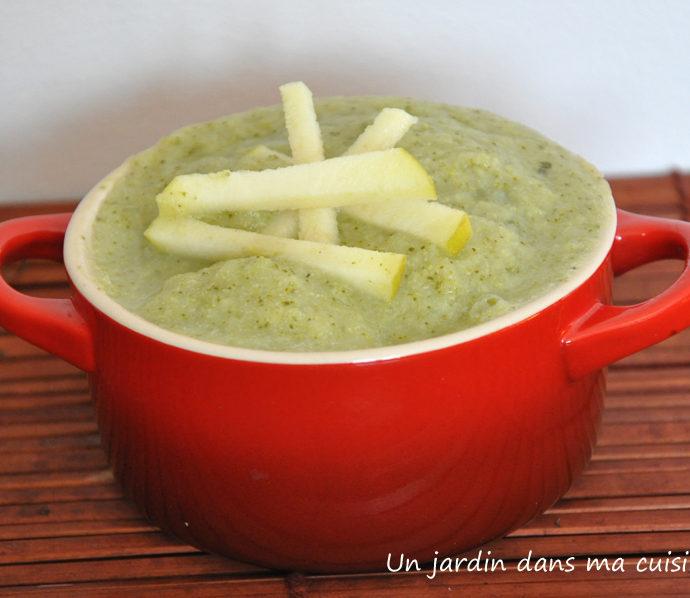 Soupe pommes brocoli