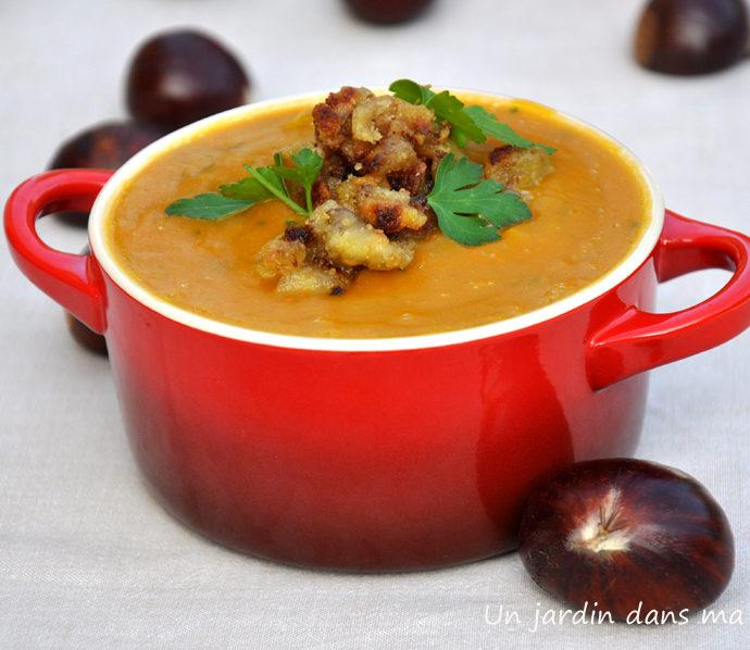 soupe de potimarron châtaignes
