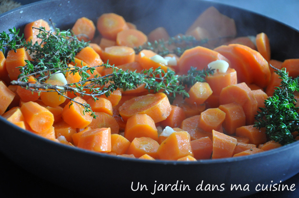 Carottes saut es l 39 ail un jardin dans ma cuisine for Asticots dans ma cuisine