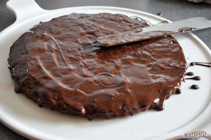 gâteau aux noisettes, noix et chocolat un jardin dans ma cuisine