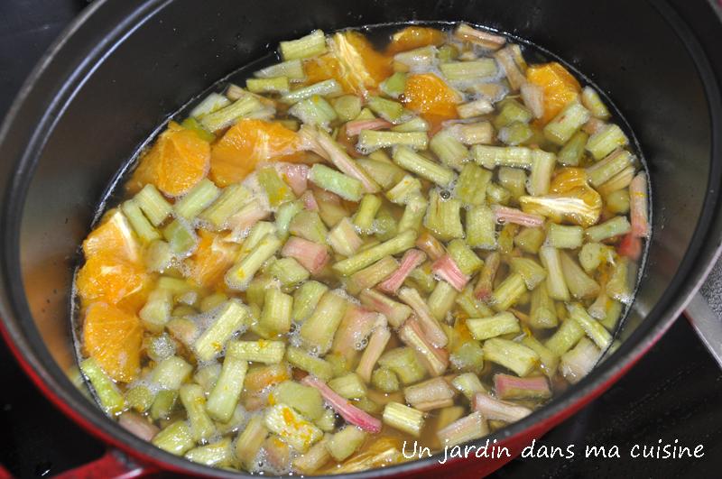 confiture rhubarbe orange un jardin dans ma cuisine