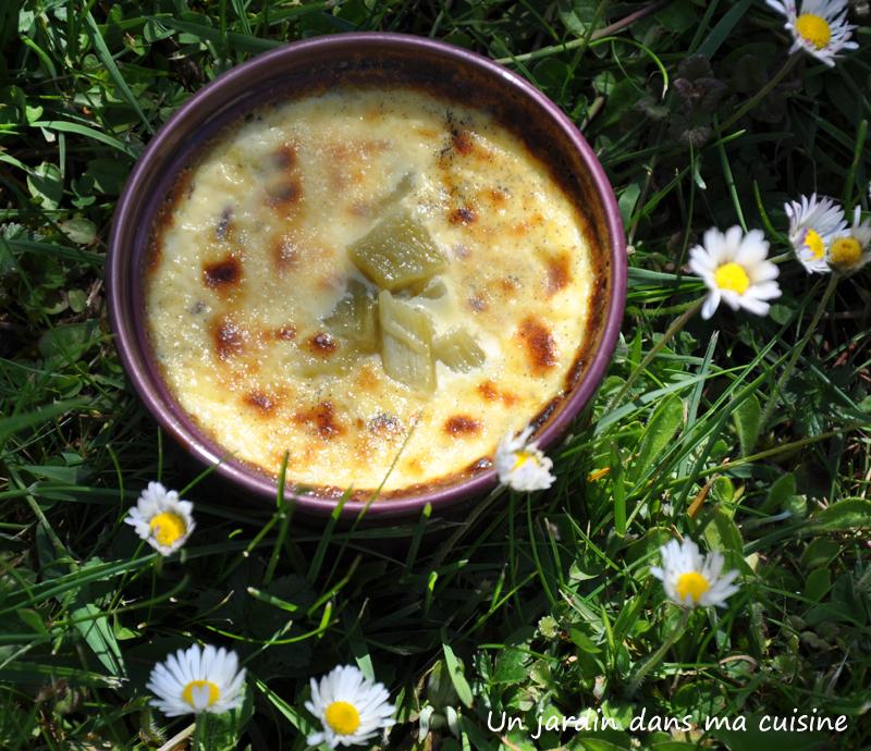 crème rhubarbe un jardin dans ma cuisine