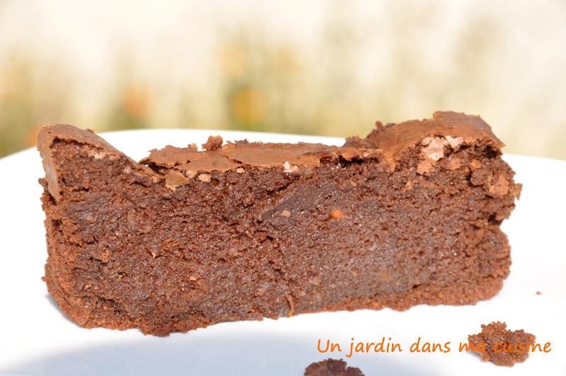 G teau au chocolat sans beurre ni farine un jardin dans ma cuisine - Gateau au chocolat sans farine ...