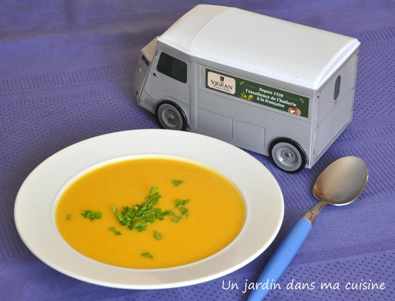 soupe de courge au lait de coco