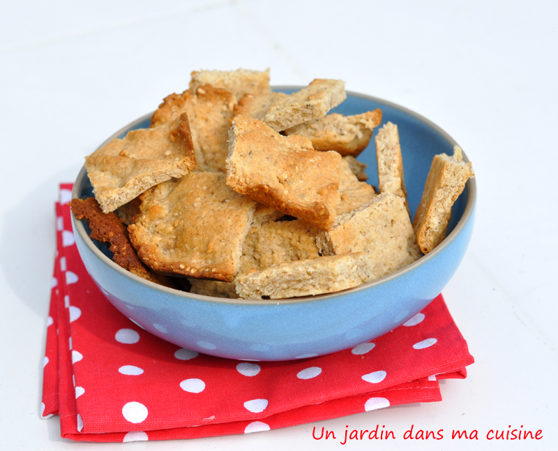 Biscuits au s same un jardin dans ma cuisine for Asticots dans ma cuisine