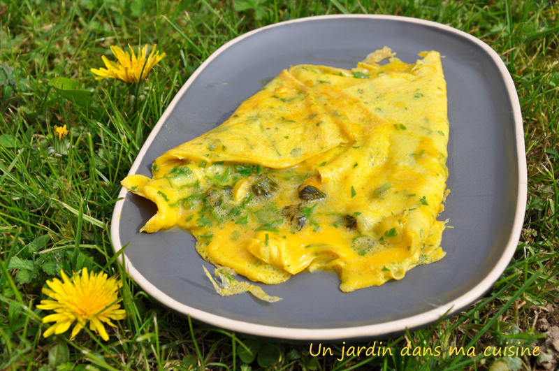 omelette boutons de pissenlit