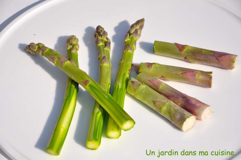 tagliatelles aux asperges vertes rôties