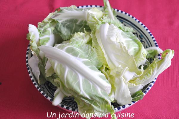 soupe feuilles de chou fleur et ses bouquets