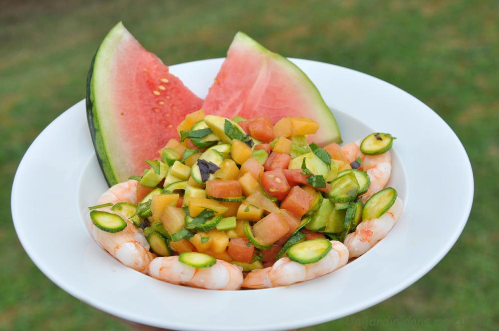 Salade estivale un jardin dans ma cuisine for Asticots dans ma cuisine