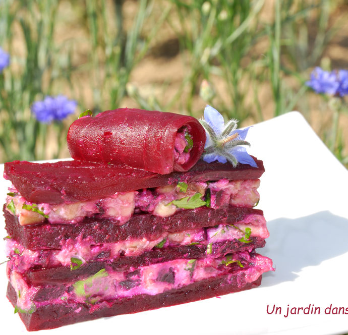 millefeuille de betteraves avocat