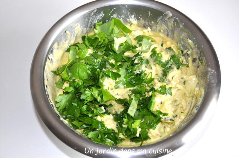 flan courgettes poulet basilic