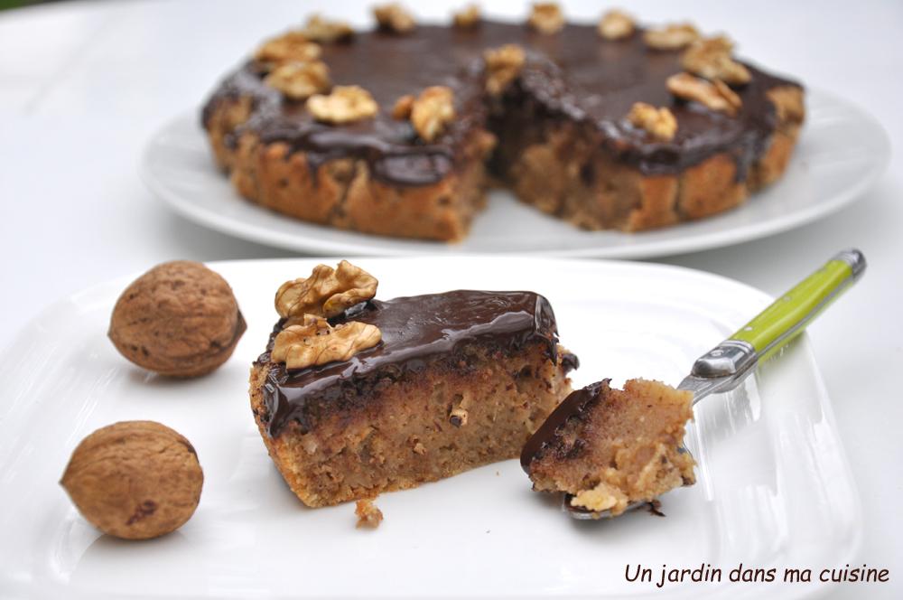 gâteau aux noix chocolat