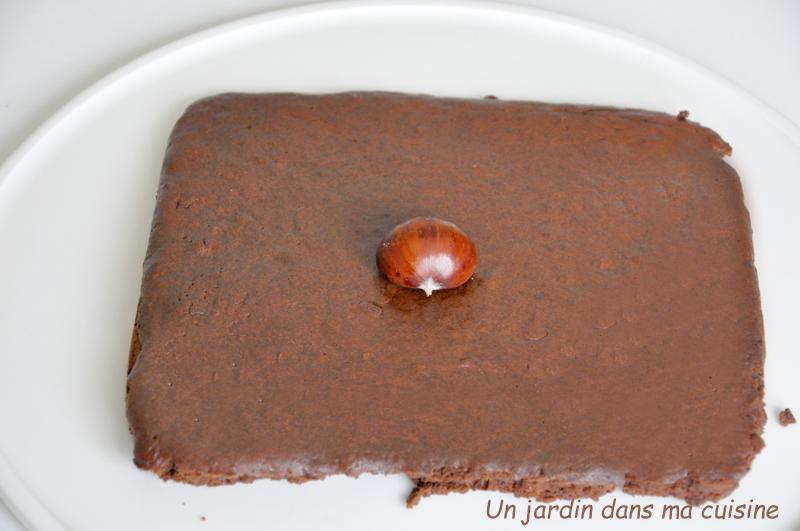 gâteau chocolat marron sans beurre ni farine
