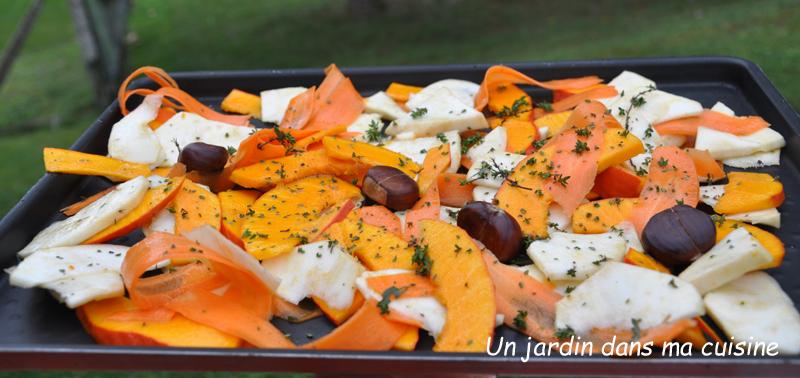 salade de chou chinois légumes rôtis