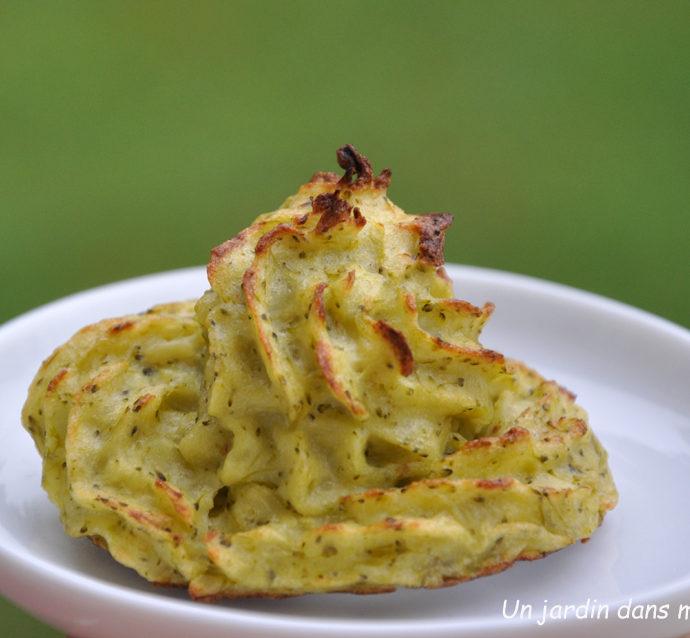 pommes de terre duchesse en habit de brocoli