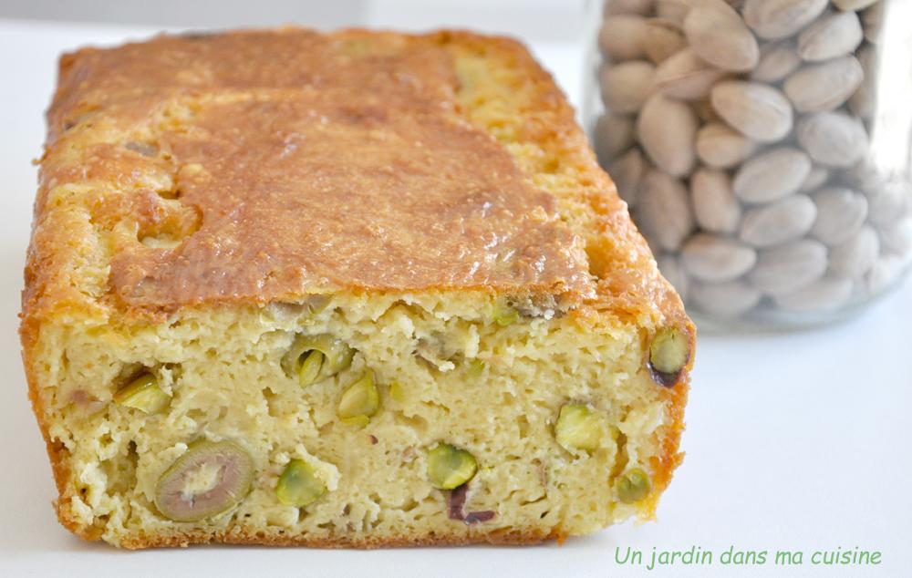 cake salé olives pistaches