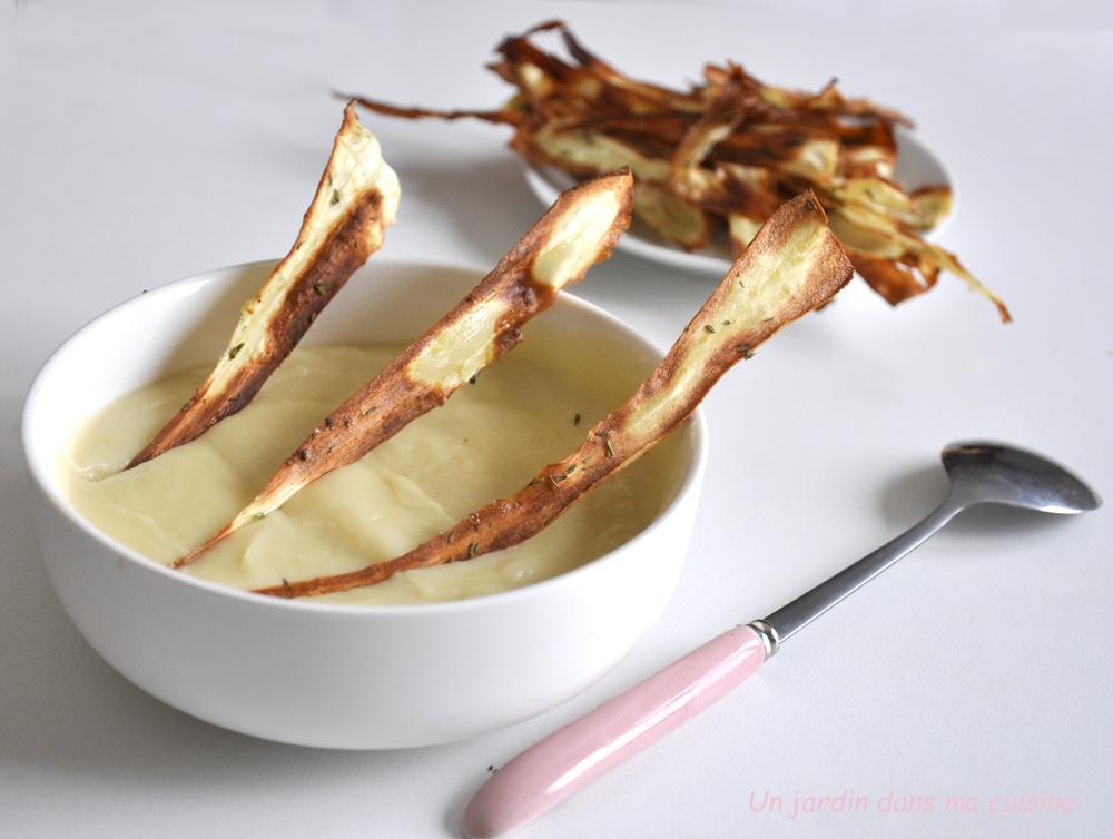 soupe panais pommes chips croustillantes