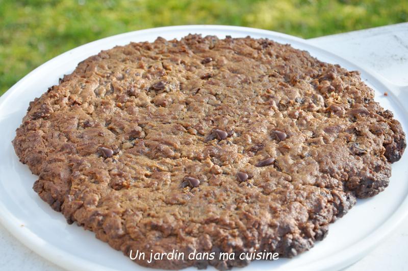cookie géant chocolat dattes
