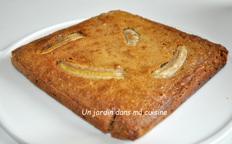 gâteau rapide bananes pépites de chocolat