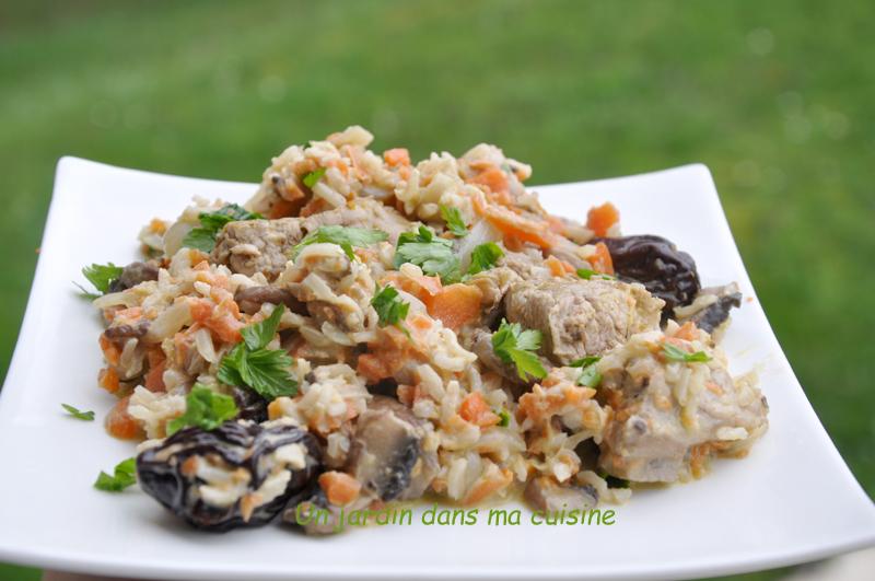 filet mignon champignons pruneaux