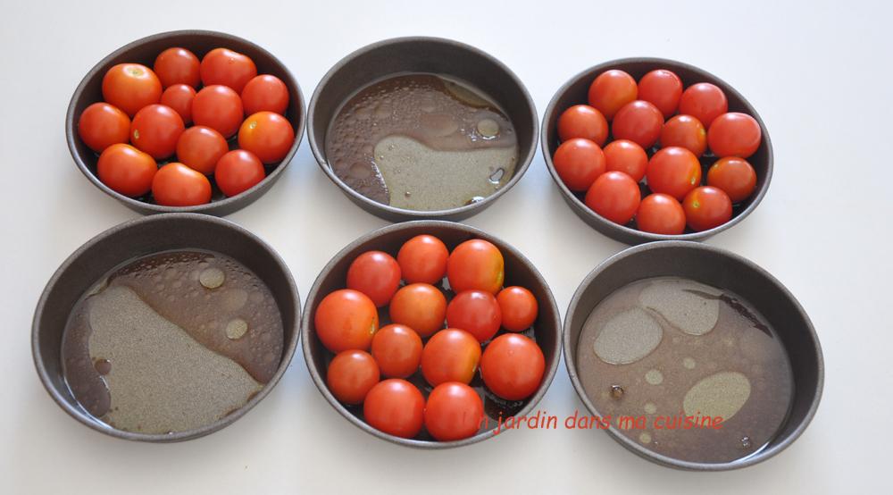 Tartelettes tomates cerise tapenade