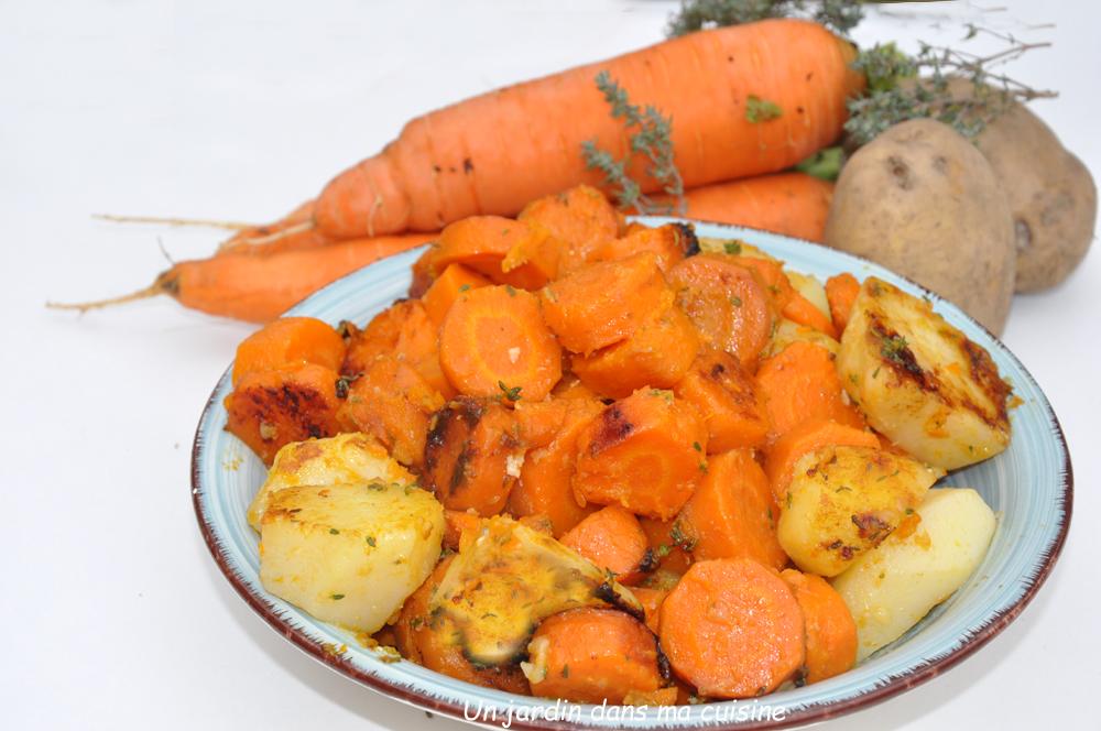 carottes et bintje sautées à l'ail