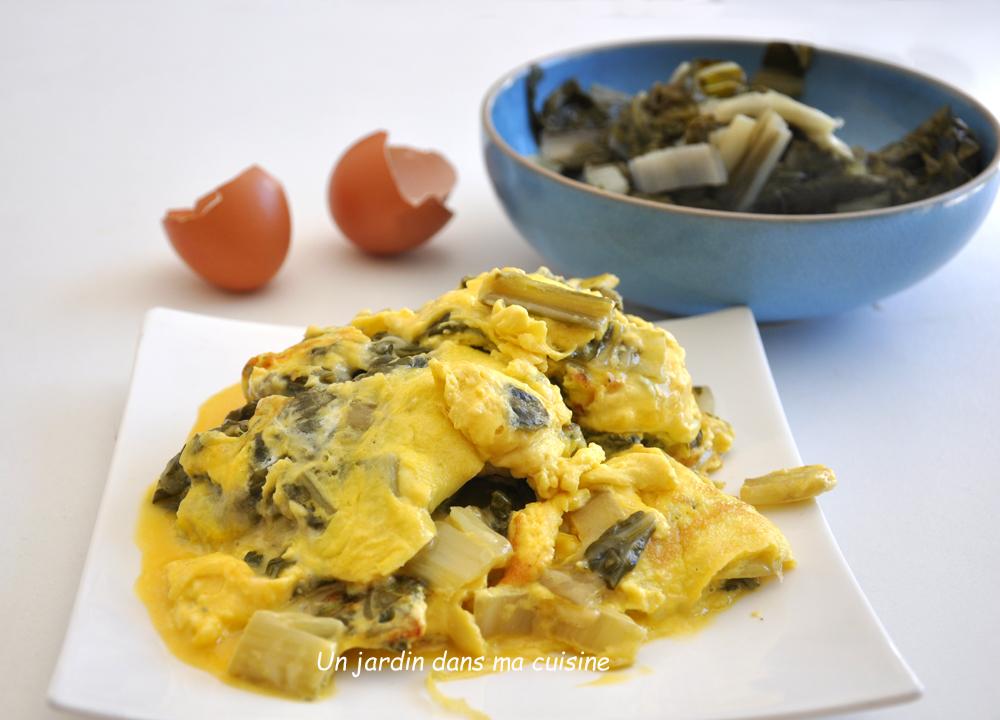 blettes en omelette