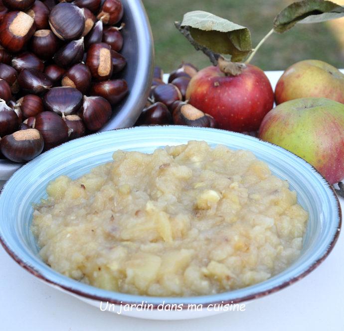 compote pommes châtaignes