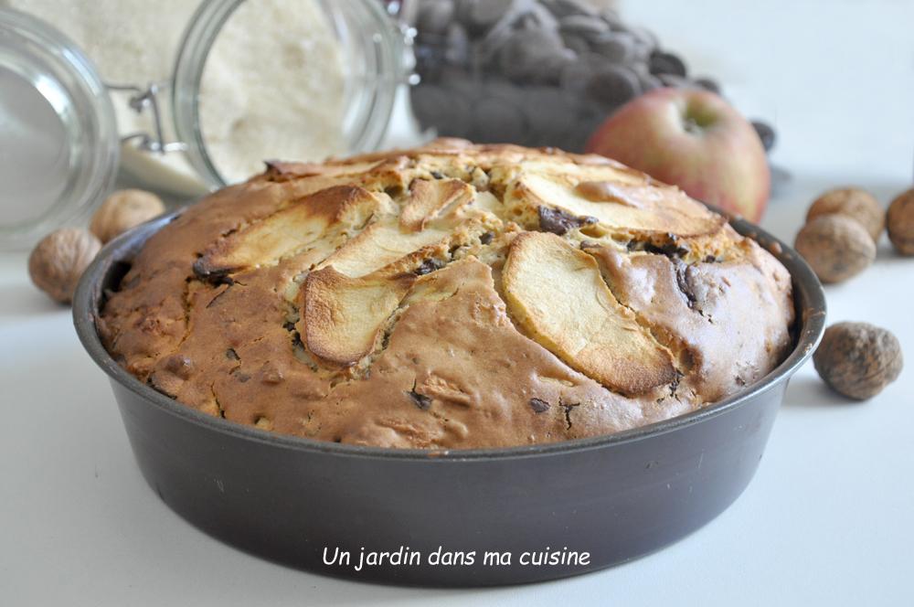 gâteau pommes noix chocolat des affamés