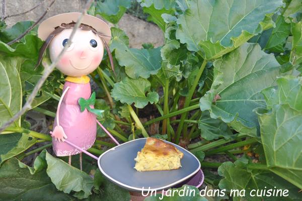 gâteau pommes rhubarbe ricotta