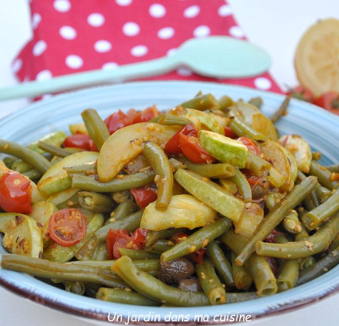 Légumes verts au citron confit