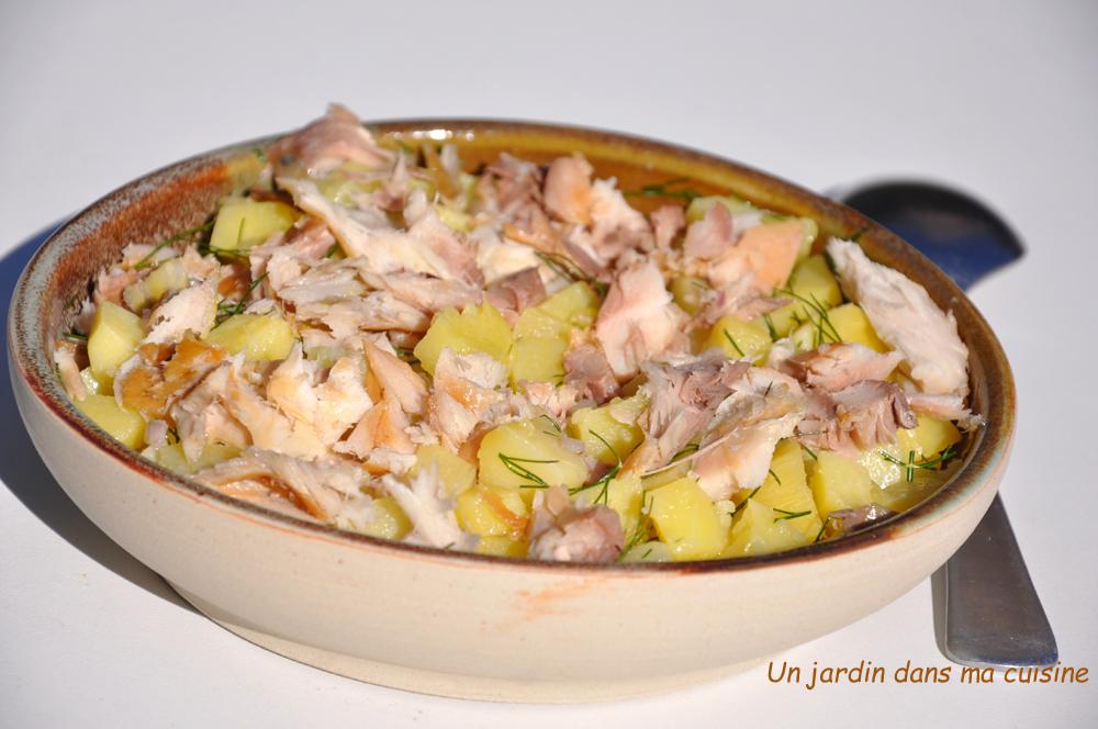 salade de pommes de terre maquereau fumé