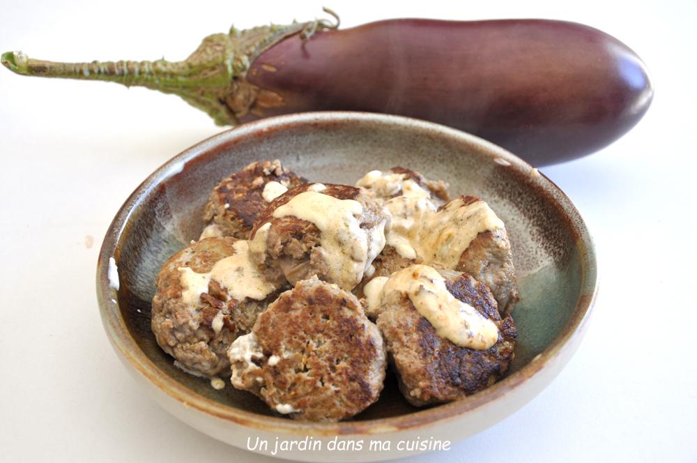 boulettes aubergines viande de bœuf hachée
