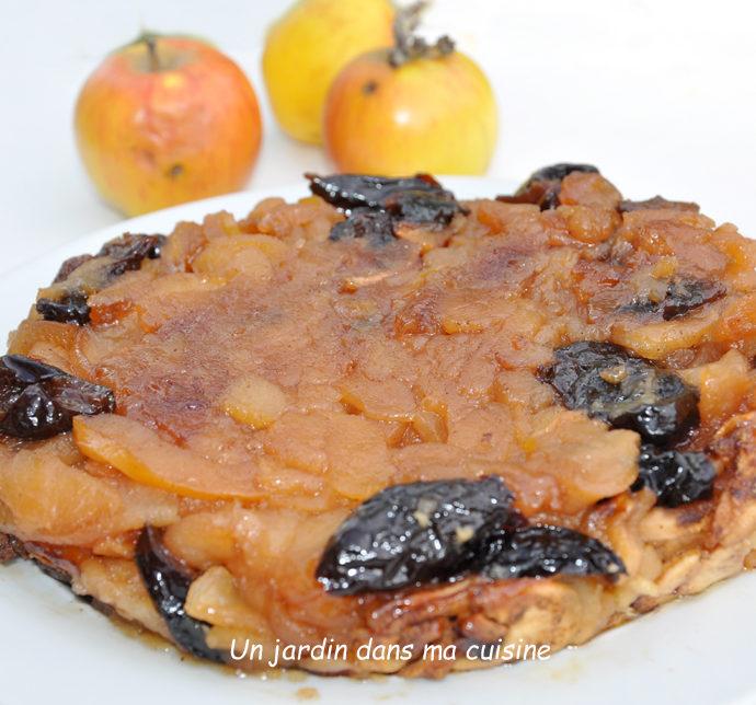 Dessert pommes pruneaux sans œufs sans farine