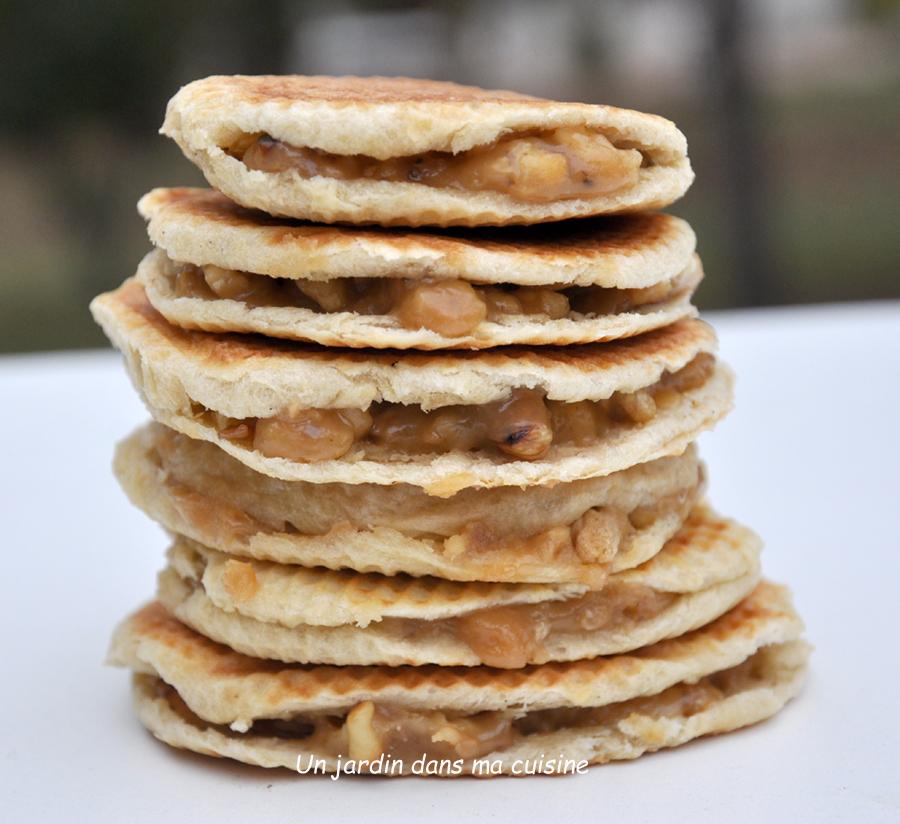 gaufres fourrées caramel de noix au beurre salé