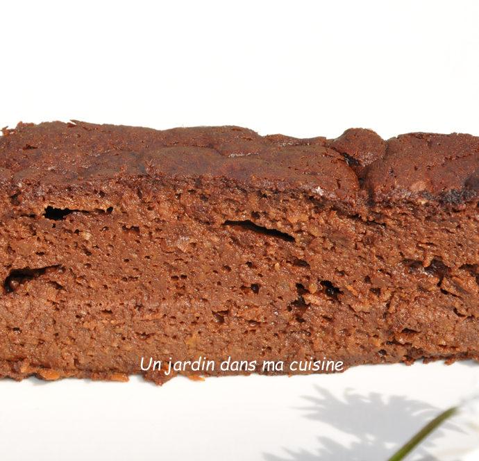 Gâteau chocolat abricot sans sucre raffiné