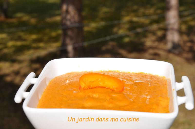 crème pâtissière abricot sans lait ni sucre