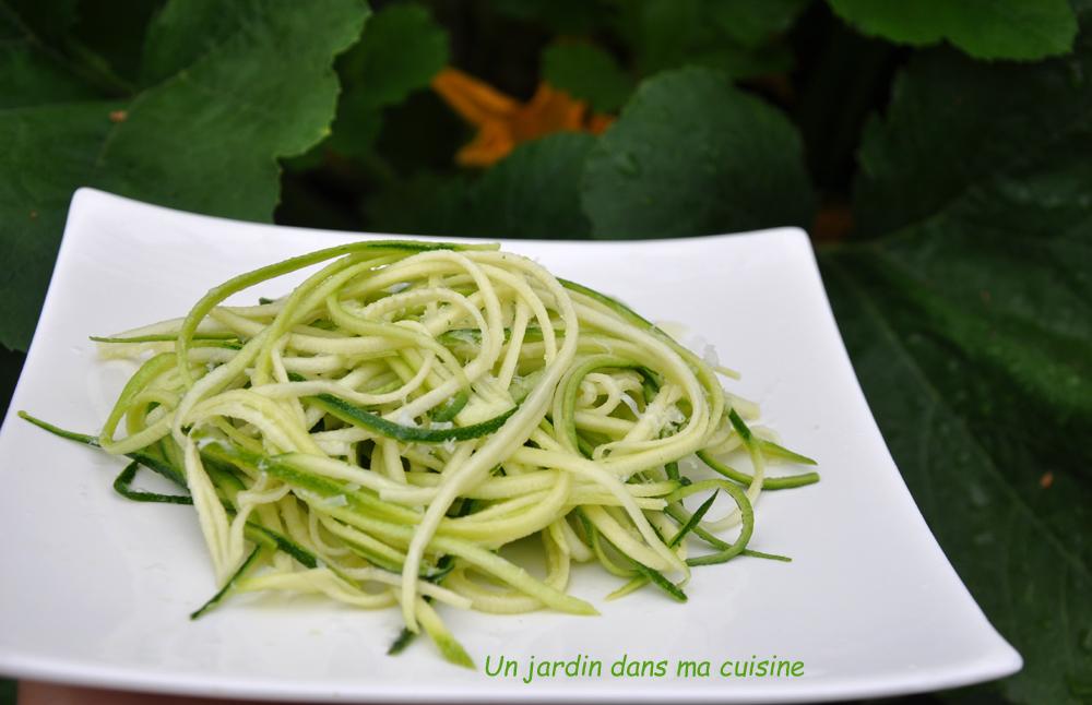 spaghetti crus de courgettes