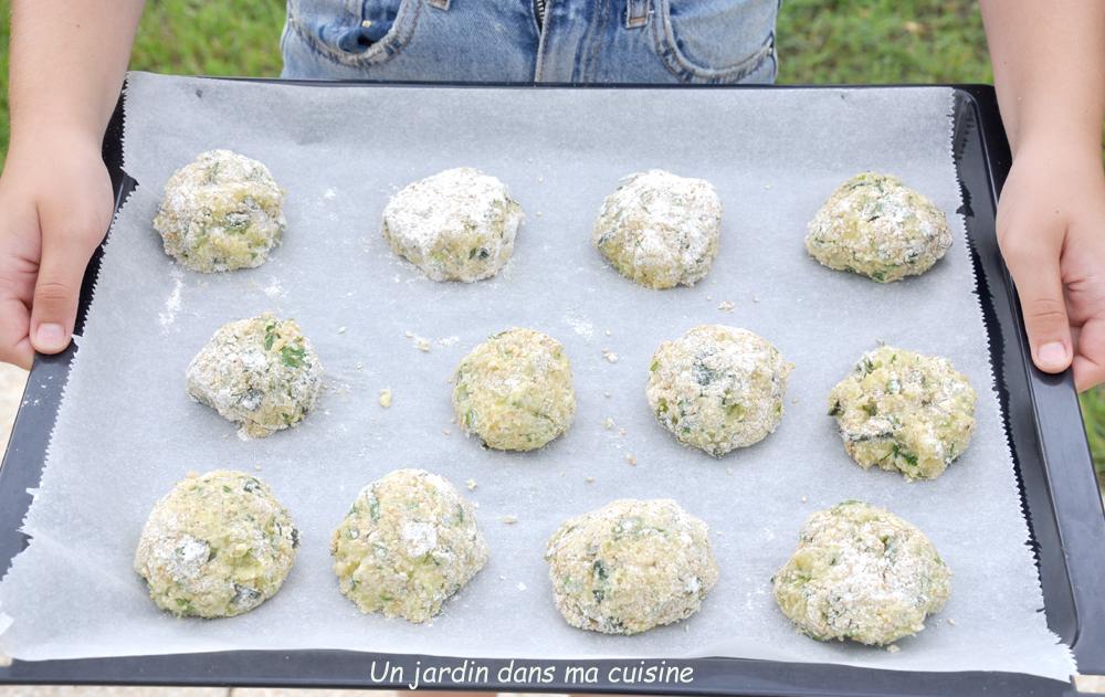 boulettes de sésame courgettes