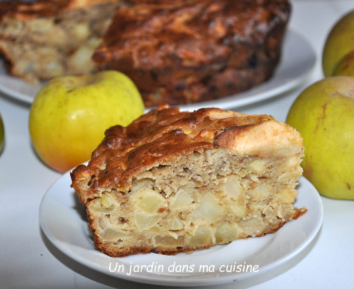 Gâteau  pommes sans sucre