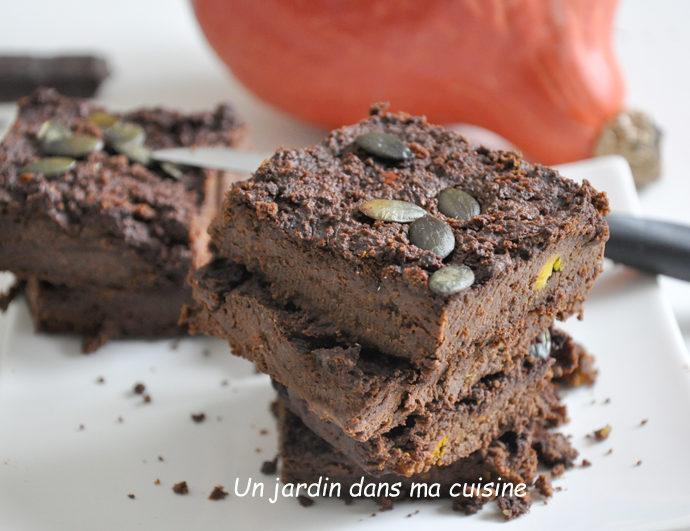 Gâteau chocolat potimarron sans sucre