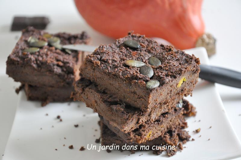 gâteau potimarron chocolat sans sucre