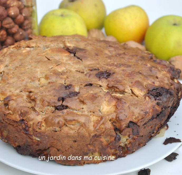 Gâteau noix pommes sans sucre ajouté