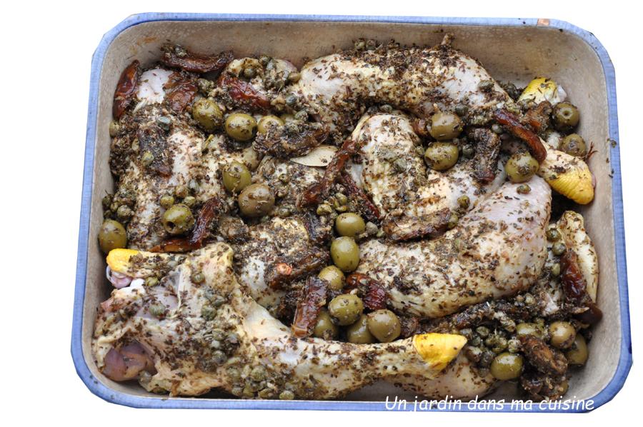 cuisses de poulet dattes olives