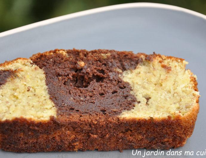 marbré chocolat banane sans beurre ni farine