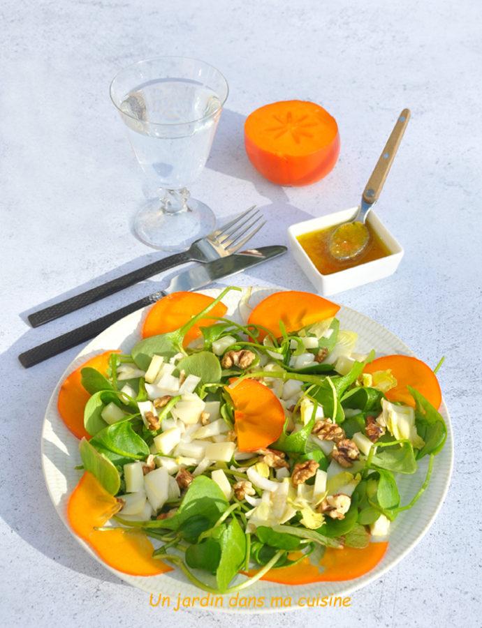 salade pourpier kaki