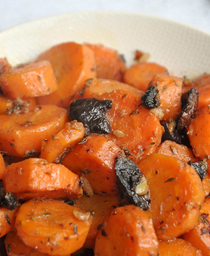 carottes sautées ail olives